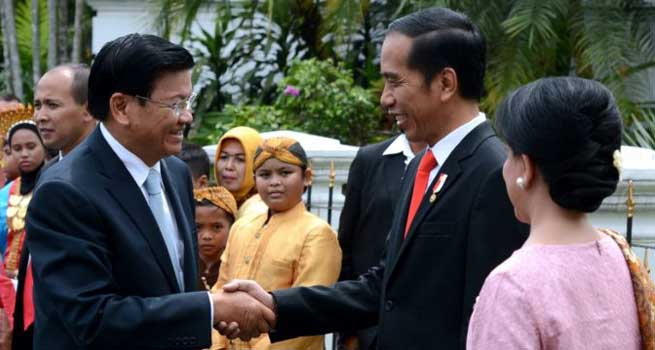 Presiden Jokowi Terima Kunjungan Perdana Menteri Laos di Istana Bogor