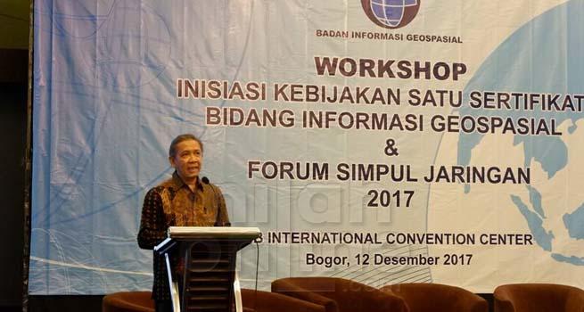 BIG Selenggarakan Workshop Inisiasi Kebijakan Satu Sertifikat Bidang Informasi Geospasial dan Forum Simpul Jaringan 2017