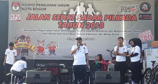 Sosialisasikan Pilkada Serentak 2018, KPUD Kota Bogor Gelar Jalan Sehat