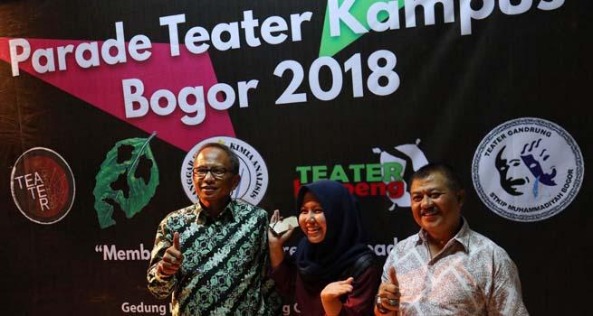 Disparbud Kerja Bareng DK3B Gelar Parade Teater Kampus Bogor 2018