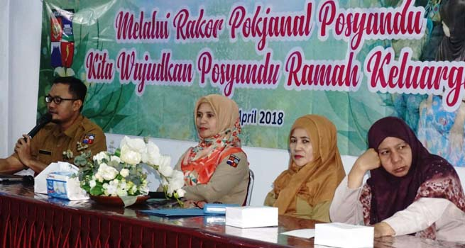Tingkatkan Koordinasi dan Sinkronisasi, DPMPPA Gelar Rakor Pokjanal Posyandu