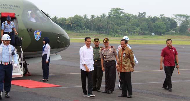 Pangdam IV Diponegoro Sambut Kedatangan Presiden Joko Widodo