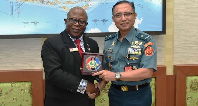 Kapuskersin TNI Terima Kunjungan Delegasi NDC Nigeria