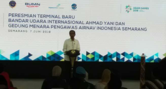 Presiden Resmikan Bandara Apung Internasional Ahmad Yani di Semarang