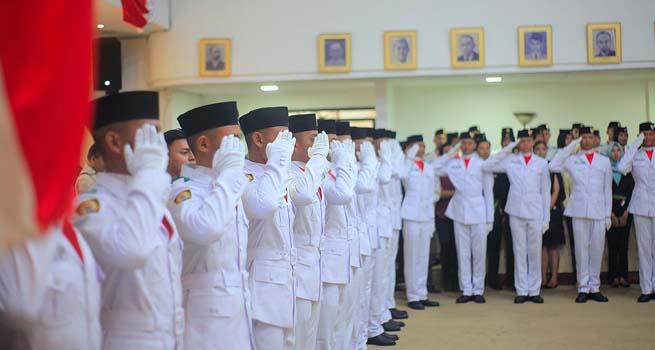 38 Pelajar Kota Bogor Dikukuhkan Sebagai Paskibraka