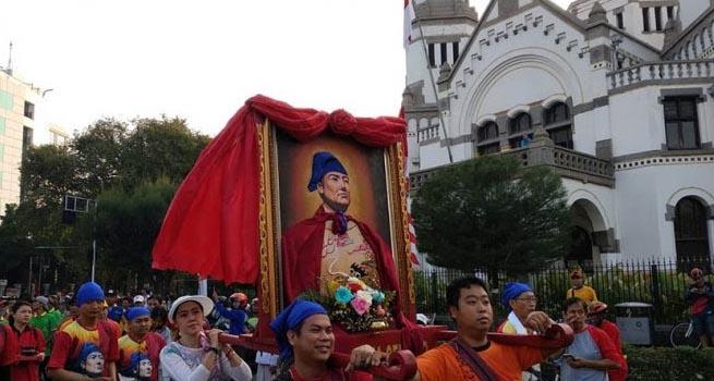 Arak-Arakan Abu Kimsin Meriahkan Puncak Acara Festifal Cheng Ho