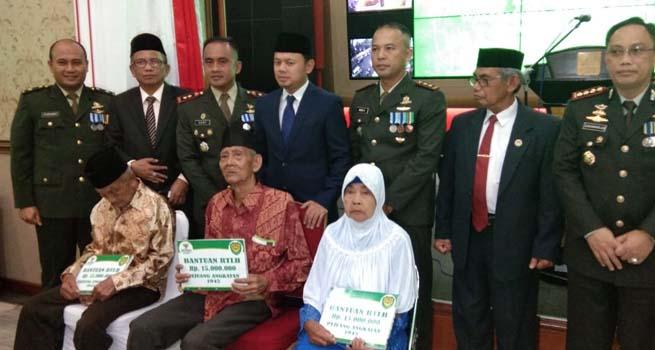 Mengenang Jasa Pejuang 45, BAZNAS Kota Bogor Bantu Perbaikan RTLH Milik Veteran