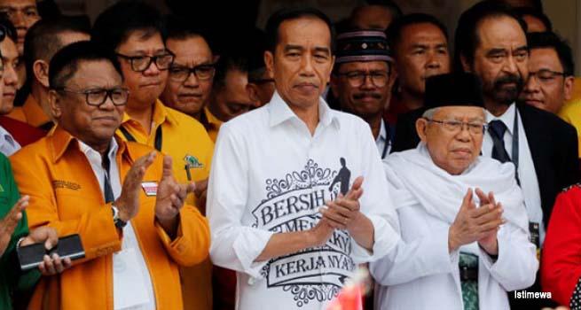 Pasangan Joko Widodo-KH Maruf Amin Daftar ke KPU