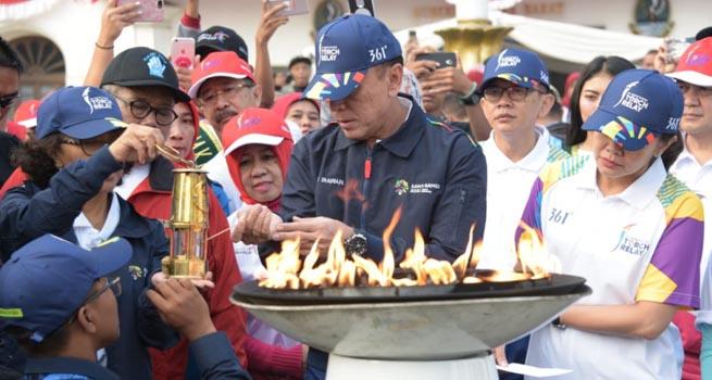Api Obor Asian Games 2018 Dilepas Pj Gubernur Jabar Bertolak ke Kabupaten Garut