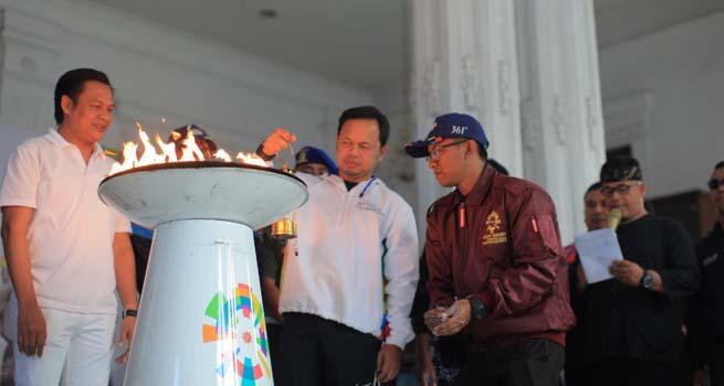 Wako Bogor Lepas Api Obor Asian Games 2018 Menuju Jakarta