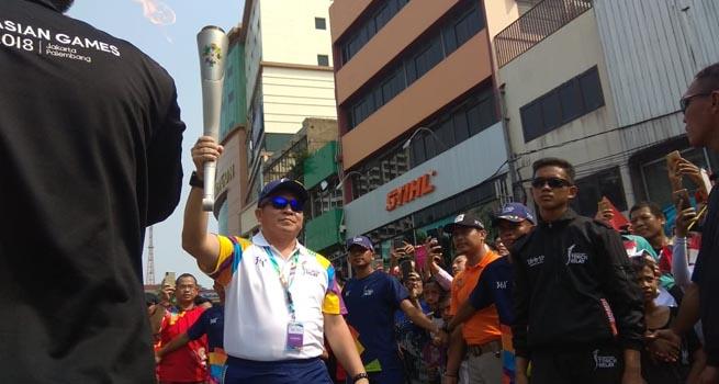 Masyarakat Tumpah Ruah Sambut Obor Asian Games 2018 Inilah Online