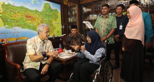 Sempat Viral, Aisyah Ardani Pencipta GGS untuk Penyandang Tuna Rungu Bertemu Gubernur Jateng