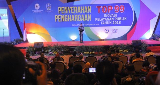 Dua Penghargaan TOP 99 Inovasi Pelayanan Publik 2018 Diraih Pemkot Bogor