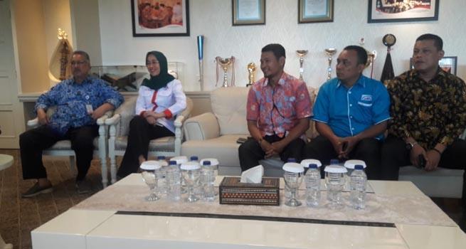 Pimpinan OKP Tergabung dalam KNPI Datangi Kantor Kementerian Pemuda dan Olahraga