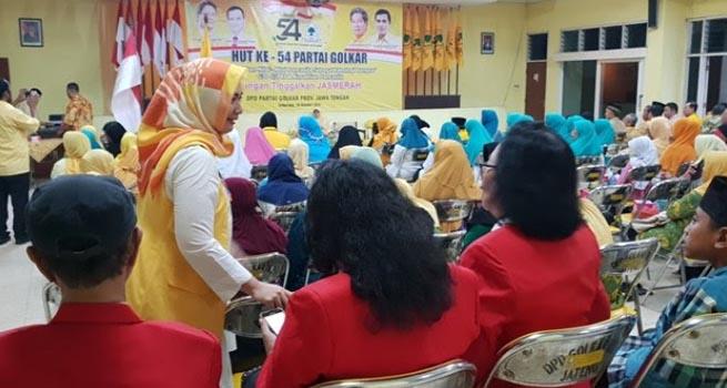 HUT Ke-54 Golkar, Wisnu Suhardono Meminta Kader Golkar Kerja Keras untuk Rakyat