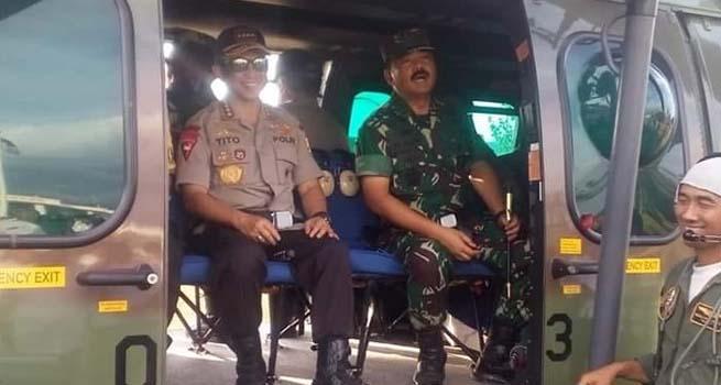 Panglima TNI Bersama Kapolri Tinjau Sumbawa Barat NTB