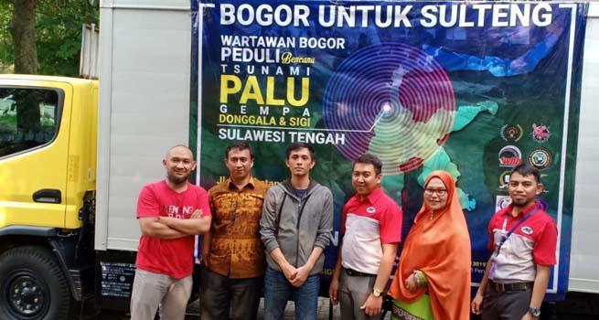 Salurkan Bantuan Masyarakat, PWI Kota Bogor Gandeng JNE Distribusikan untuk Korban Bencana Sulteng