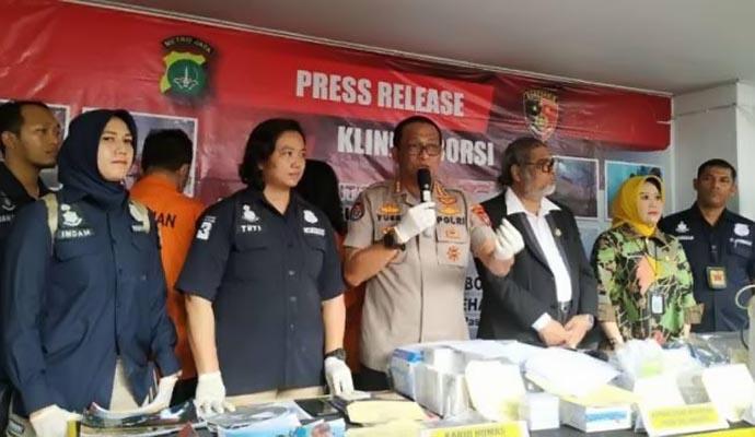 Polda Metro Jaya Bongkar Klinik Aborsi Ilegal Beromzet ...